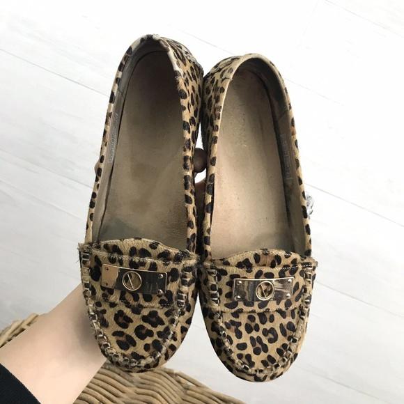 6af1ca28ba5b Vionic Leopard Pony Calf Hair Texture Loafer. M 5bbc100804e33de98b4d955c